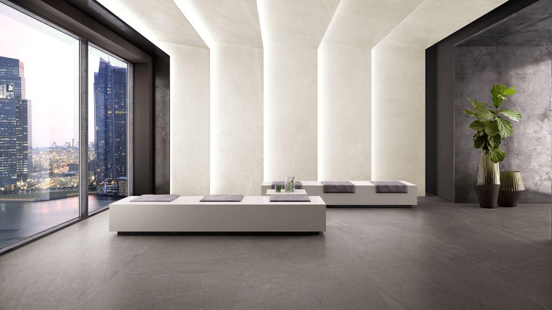 spieki kwarcowe kerlite limestone slate natural minimalistyczny pokój